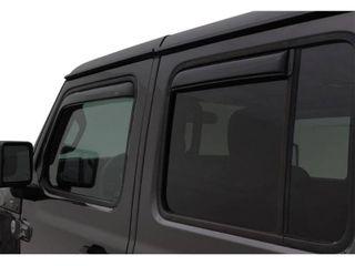 AVS 2018 Jeep Wrangler Unlimited  4 Door  Ventvisor In Channel Window Deflectors 4pc   Smoke