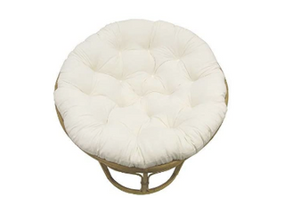 COTTON CRAFT Classic Cotton Duck Overstuffed Pure Cotton Papasan Chair Cushion  Ivory  JUST cushion  RETAIl price  77 99