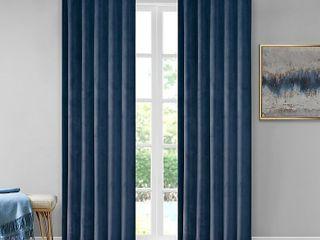 510 Design Colt 1 Pack of 2 panels 95 Inch Velvet Rod Pocket Room Darkening Window Curtain in Navy Retail Price  39 99