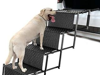 Upgraded Pet Dog Car Step Stairs  Accordion Metal Frame Folding Pet Ramp for Indoor Outdoor Use  lightweight Portable Auto large Dog and Cat ladder for Cars  Trucks and SUVs Cargo  Couch and High Bed Retails Price  62 99