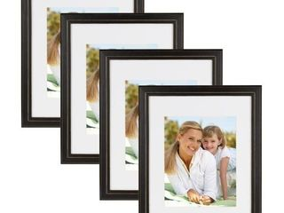 Kieva 11 in  x 14 in  matted to 8 in  x 10 in  Black Picture Frame  Set of 4  Retails price  43 99