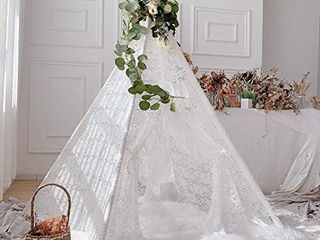 Avrsol Kids Teepee Boho Sheer lace Tipi Canopy Play Tent for Wedding  Party  Photo Prop retail price  59 99