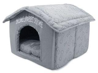 Portable Indoor Pet House  Best Supplies  Silver