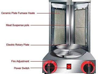 li Bai Shawarma Machine Doner Kebab Grill Gas Vertical Broiler Gyro Meat Rotisserie with 2 Burner for Restaurant Home Garden Retail Price  260 55