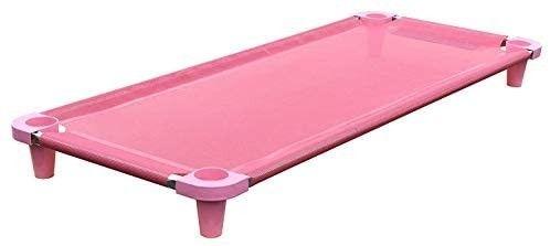 Acrimet Premium Stackable Nap Cot  Stainless Steel Tubes   Pink   1 Unit  Retail Price  39 90