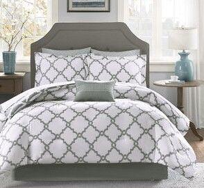 Geometric 3 Piece Bed Reversible Comforter duvet and pillow case set