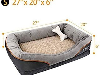 JOYElF Orthopedic Dog Bed Memory Foam Pet Bed with Removable Washable Cover 27 A20