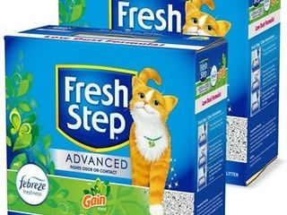 Fresh Step Advanced Refreshing Gain Scented Clumping Clay Cat litter 18 5lB box  2 Pack  Retails 27 99l