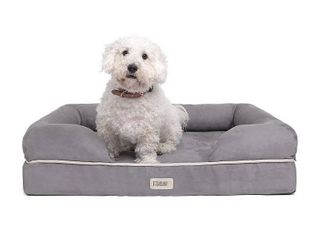 Friends Forever Orthopedic Dog Bed lounge Sofa Removable Cover 100  Suede  Retails 99 99