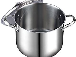 Cooks Standard 8 Quart classic stainless Steel Stockup With lid  Retails 49 99