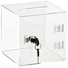 AdirOffice 6 A6  Acrylic Ballot Box  Retails 33 95