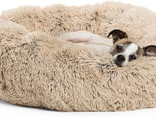 Bestfriends by Sheri The Original Calming Shag Fur Donut Cuddler Cat   Dog Bed  Retailz 34 95