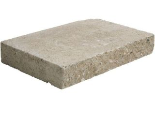 Pallet of 58 Pavestone 2 in  x 12 in  x 8 in  Buff Concrete Wall Cap