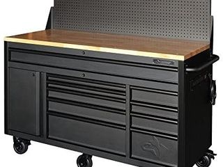 Husky 61in 10 Drawer 1 Door Mobile Workbench with Pegboard Retail   1 509