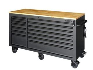 Husky 62in 15 Drawer Adjustable Top Workbench Retail   1 019 00