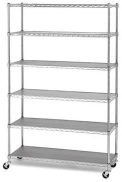 Members Mark 6 Tier Commercial Shelving with Durable Shelf Inlays