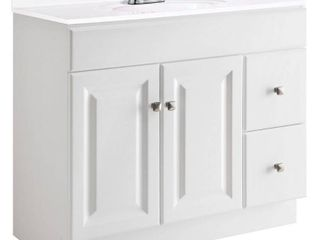 Design House Wyndham 36 in  W x 18 in  D Unassembled Bath Vanity Cabinet Only in White Semi Gloss
