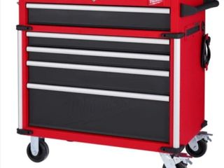 Milwaukee 36in 5 Drawer High Capacity Steel Storage Cabinet Retail   598 00