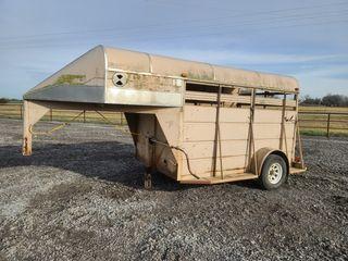 Ponderosa 10  GN stock trailer