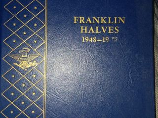 COMPLETE BOOK OF FRANKLIN HALF DOLLARS...