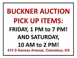 Pickup Purchases – Buckner Online Auction, Columbus KS