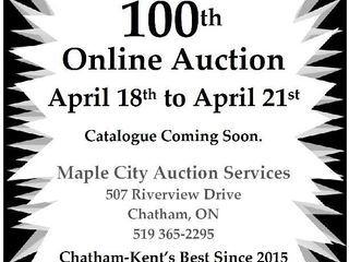 Exciting Online Auction Begins April 18 at 4pm
