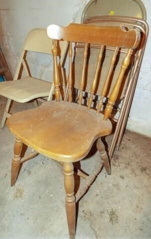 Folding Chairs  4  Wood Chair