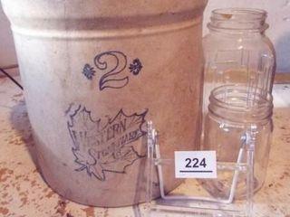 Western Stoneware Crock  Jars  2