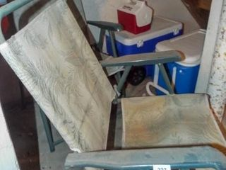 Folding lawn Chairs  2  Coolers  4