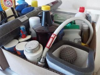Cleaning Supplies  Iron  Screen   2 boxes