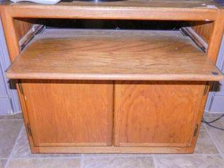 Wooden TV cabinet  sliding shelf