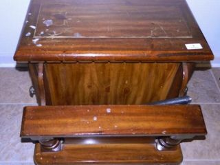 Wooden side table with storage