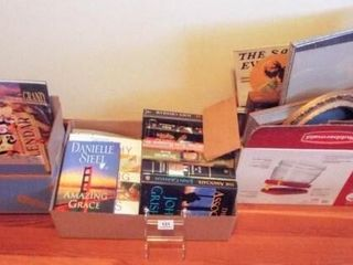 Books  Frames   3 boxes