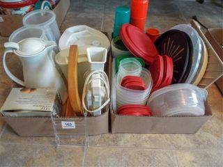 Plasticware  Salad Shooter  Spinner   2 box