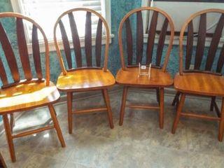 Wood Chair Set  4