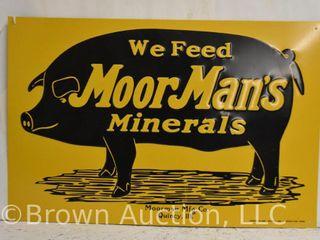 MoorMan s Minerals embossed sst sign