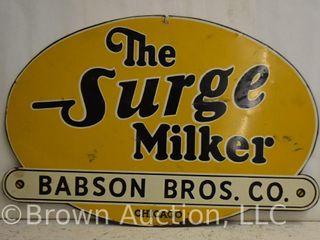 Surge Milker Babson Bros  sst sign