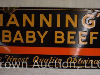 Manning s Baby Beef ssp sign