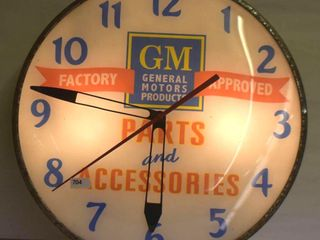 GM Parts and Accessories bubble glass Pam clock