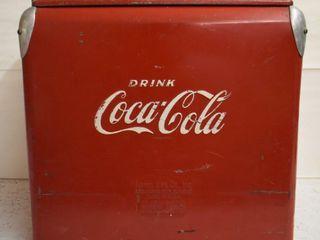 1950 s Coca Cola picnic cooler ice chest