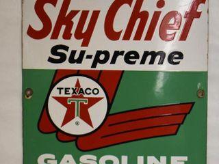 Texaco Sky Chief Su preme ssp pump plate