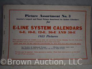 1953 Picture Assortment No 3 for E line System Calendars