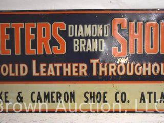Peters Shoes embossed sst dealer sign