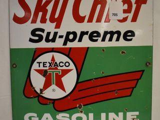 Texaco Sky Chief Su preme Gasoline ssp sign