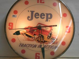 Jeep  Traction in Action  bubble glass Pam clock