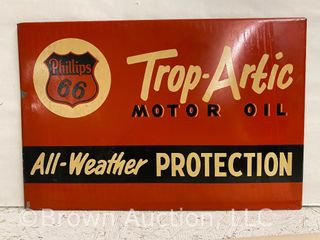 Phillips 66 Trop Artic Motor Oil SST rack topper sign