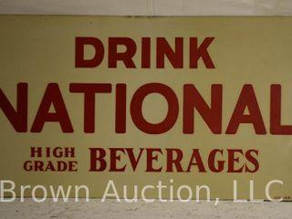 Drink National High Grade beverages sst tacker advetising sign