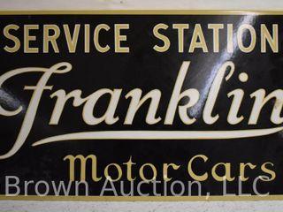 Franklin Motor Cars Service Station DSP sign