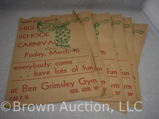 Several old paper posters for Garden City  KS HS Carnival