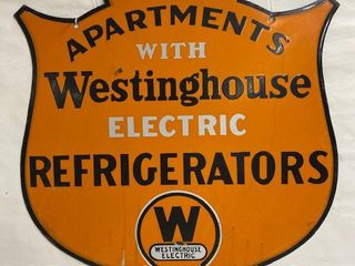 Westinghouse Electric Refrigerators DSP shield sign